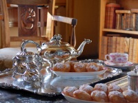 Tea in the bibliotheque | Residential Cookery Courses