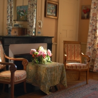 Bedroom chairs by the fireside   Residential Cookery Courses