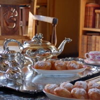 Tea in the bibliotheque   Residential Cookery Courses