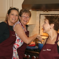 With my sister and Noosheen | French Cooking Courses