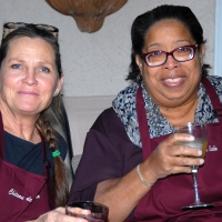 Paula & Mary relaxing before dinner | French Cooking Classes