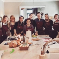 Cooking crew at Susan's | French Cooking Courses