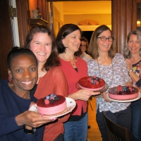 Raspberry Bavarois at Nora's | French cooking Classes
