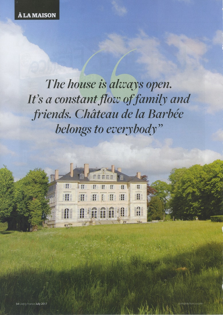 "Article on ""Living France"" about LVDC's Culinary holidays"